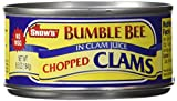 Snow's, Chopped, Clams in Clam Juiice, 6.5oz Can (Pack of 6)