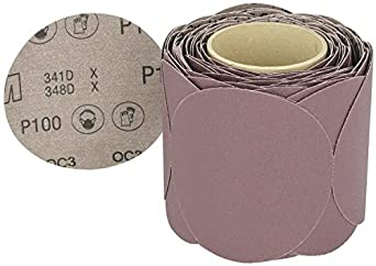 """3M Stikit Cloth Disc Roll 341D, PSA Attachment, Aluminum Oxide, 5"""" Diameter"""