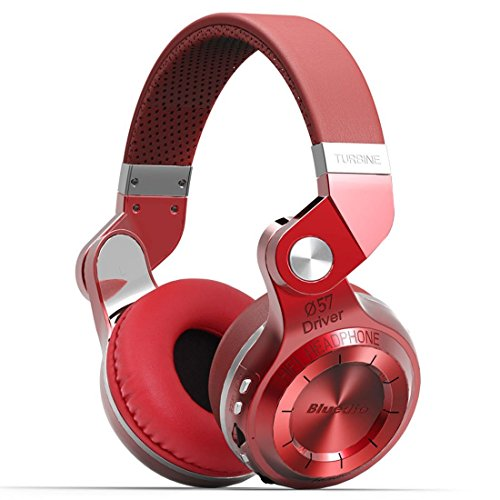 Click to buy Bluedio T2 Plus Wireless Bluetooth 4.1 Headphones Built-in Mic TF Card/FM Radio Foldable Headset Handsfree Call (Red) - From only $59.99