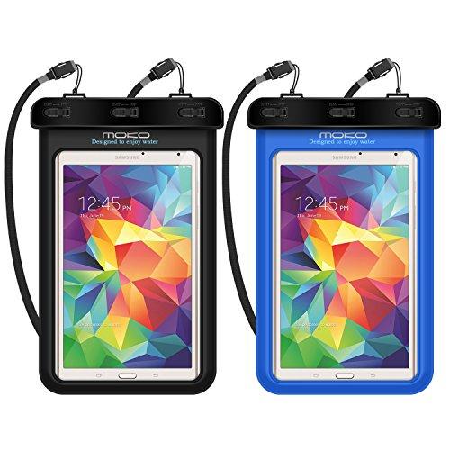 Universal Waterproof Case, MoKo [2-Pack] Dry Bag for iPad Mini Retina, Mini 2/4, Galaxy Tab 2/3/4/5, Tab E 8.0, Tab A 7.0/8.0, LG G Pad III 8.0, Nexus 7(FHD) & Other Tablets up to 8.3