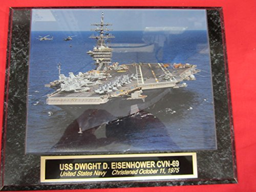 US Navy USS DWIGHT D EISENHOWER CVN-69 Collector Plaque w/8x10 Photo! (Uss Dwight D Eisenhower compare prices)