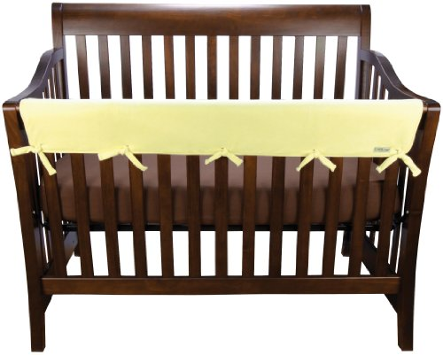 Trend-Lab-Fleece-CribWrap-Rail-Cover-for-Long-Rail-Yellow-Wide-for-Crib-Rails-Measuring-up-to-18-Around