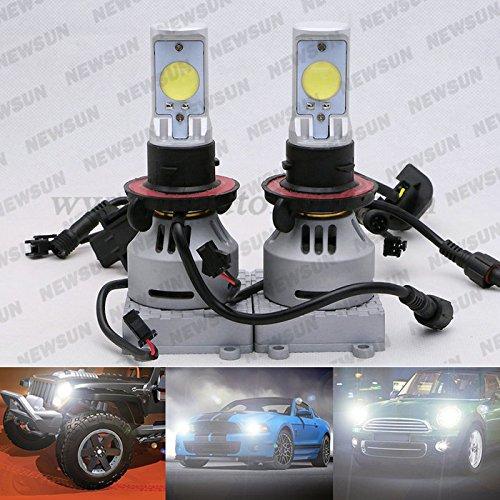 Newsun High Power 35W Car Led Headlight Bulb 2*3200Lm Cree Mtg2 Led Fog Lamp H13 9008 Led Headlight High Low Dual Beam 6500K Xenon White