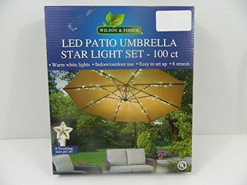 Led Patio Umbrella Star Light Set 100 Ct Indoor Outdoor 8 Strands