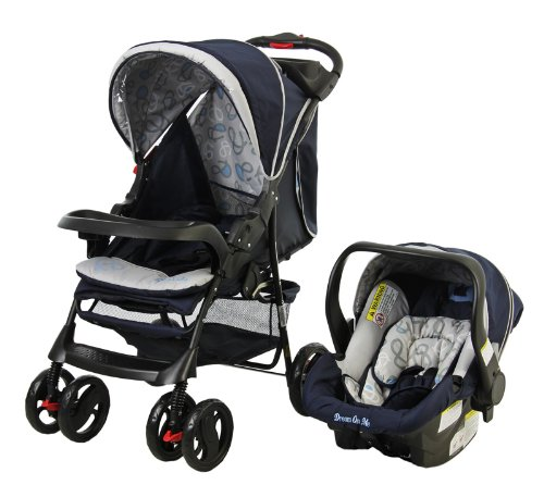 Dream On Me The Wanderer Family Collection Travel System, Navy