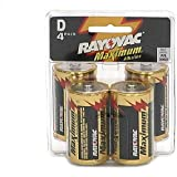 Maximum Plus Alkaline Batteries D 4/Pack