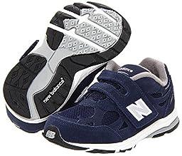 New Balance KV990 Hook and Loop Running Shoe (Infant/Toddler),Navy,4 M US Toddler