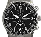 Astroavia H5S Herren-Armbanduhr Chronograph Quarz Edelstahl, mit Alarm