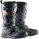 ONeal MX Element Mens Black Leather Motorcycle Boot – 10 by Leather Factory Outlet