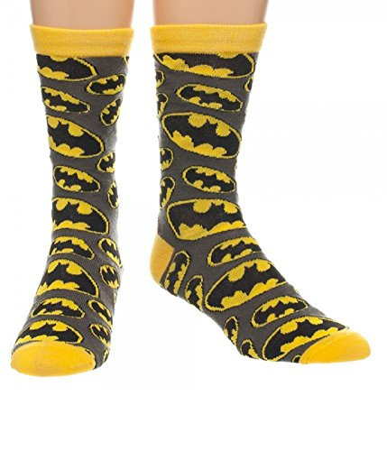 Batman Toss Logo All Over Print Crew Socks Over Logo Sock