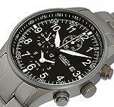 Astroavia H1S Alarm Chronograph mit Edelstahl Armband Herren-Armbanduhr Quarz