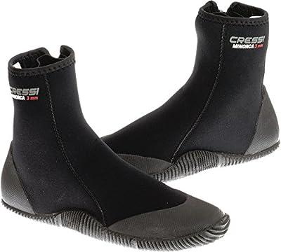Cressi Minorca Boots 3mm Premium Neoprene with Anti Slip Rubber Soles