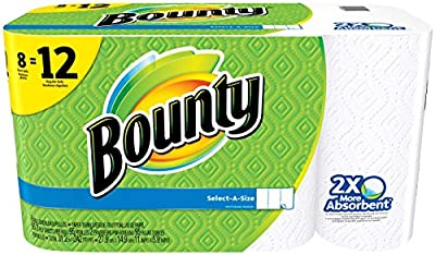 Bounty Select-A-Size Paper Towels, White, Giant Roll