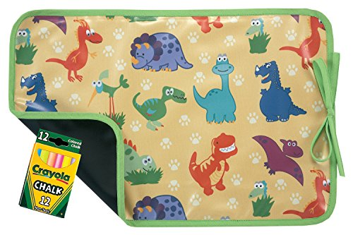 AM PM Kids! Reversible Placemat/Chalkboard, Dino-Mite