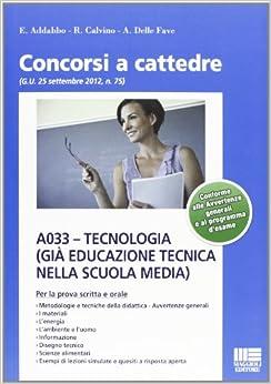 A033. Tecnologia (già Educazione tecnica nella scuola