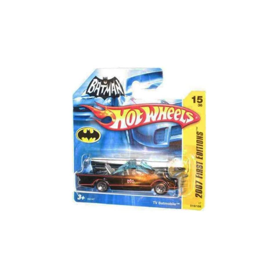 2007 New Models  #15 1966 TV Series Batmobile First Editions Card Short Card Honeycomb Grill #2007 15 Collectible Collector Car Mattel Hot Wheels 164 Scale