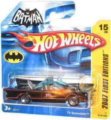 2007 New Models -#15 1966 TV Series Batmobile First Editions Card Short Card Honeycomb Grill #2007-15 Collectible Collector Car Mattel Hot Wheels 1:64 Scale