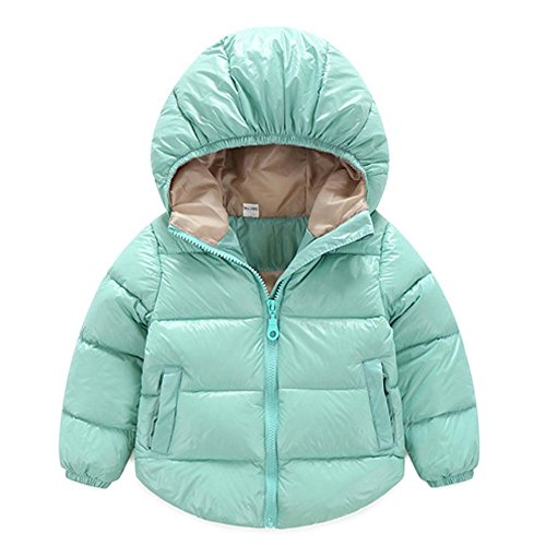 Toddler Baby Boys Girls Outerwear Hooded coats Winter Jacket Kids Clothes 6-12 Months Lake Blue