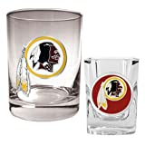NFL Washington Redskins Rocks Glass & Shot Glass Set - Primary Logo