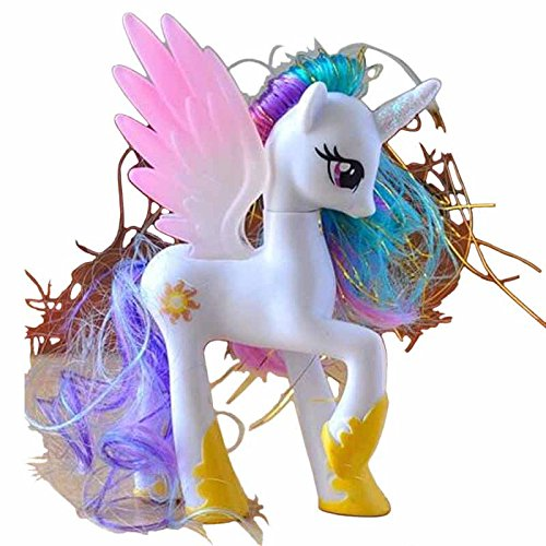 [Princess Celestia My Little Pony Doll/Sun Princess Celestia My Little Pony Doll Funny Cake Toppers Doll Action Figure Toy Gift Present Size 14 cm. (Pink] (My Little Pony Costume For Dogs)