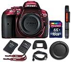 Nikon D5300 Red Digital SLR Camera (B...