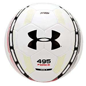 Under Armour 495 Force Soccer Ball, Size 4, White