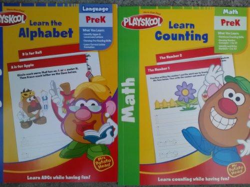 Mr Potato Head Numbers & Mrs Potato Head Alphabet Preschool Workbooks 2-Pack front-989015