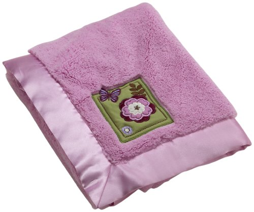 NoJo Emily Applique Coral Fleece Blanket - 1