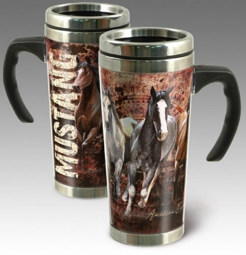 American Expedition Mustang Steel Travel Mug, 24-Ounce