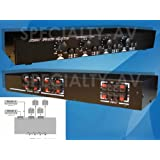 600W 4-ZONE Stereo Speaker Selector Switch Switcher with Volume Control