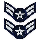 アメリカ空軍 ミリタリーワッペン USAF兵長 両肩用2Pセット