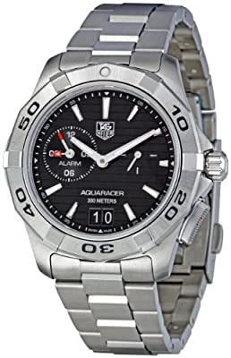 TAG Heuer Men's WAP111Z.BA0831 Aquaracer Black Dial Watch