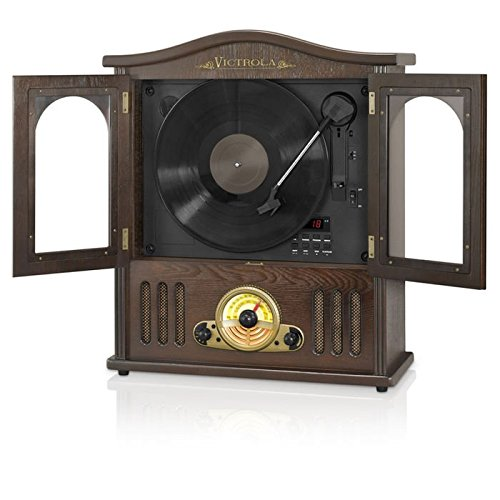 Victrola-Wood-Wall-Mount-Record-Player-with-CD-and-Bluetooth