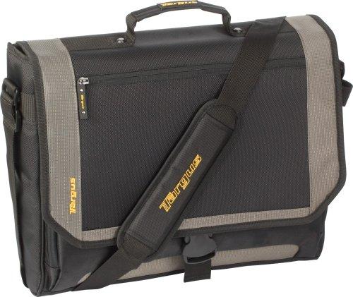 Targus CityGear Miami Messenger Case for 17 Inch Notebooks TCG200 (Black with Grey)
