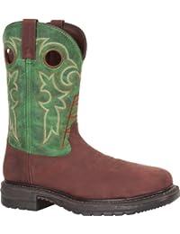 """Rocky Men's 11"""" Original Ride Steel Toe Western Boot-RKYW038"""