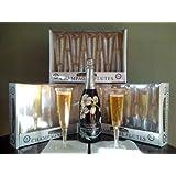 Elegant Plastic 5oz. Champagne Flutes. Designed Pattern. 96 Champagne Flutes