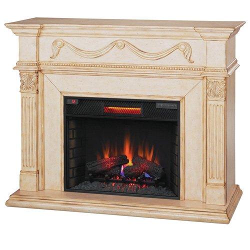 """28"""" Gossamer Infrared Quartz Heater Electric Wall Fireplace"""