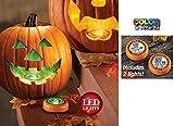 Set Of 2 Halloween Pumpkin Led Color Changing Tap Lights