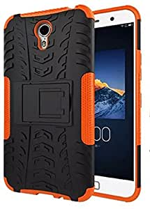 PES Flip Kick Stand Spider Hard Dual Rugged Armor Hybrid Bumper Back Case Cover For Lenovo ZUK Z1 - Mobile Orange