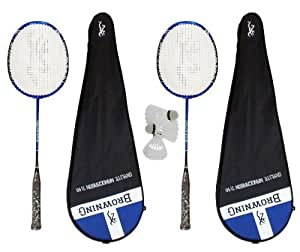 2 x Browning Oxylite Nano Ti 90 badminton rackets + 3 x shuttles RRP £350