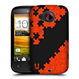 Head Case Designs Orange Puzzle Pieces Protective Snap-on Hard Back Case Cover for HTC Desire C