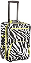 Rockland Luggage 2 Piece Printed Luggage Set, Lime Zebra, Medium