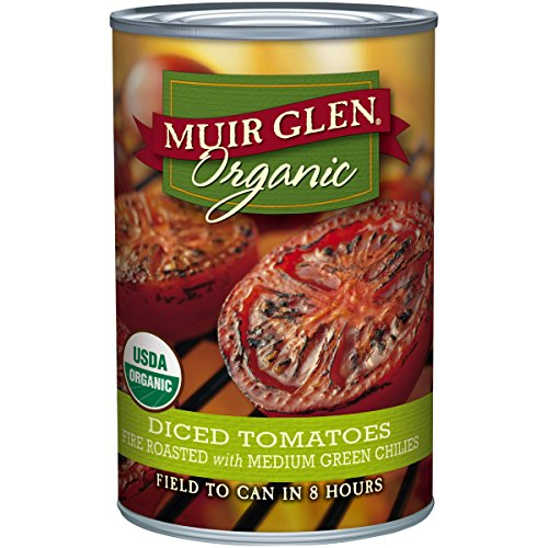 Muir Glen, Organic Diced Tomatoes, Fire Roasted with Medium Green Chilies, 14.5 oz (Tomato Diced Can compare prices)