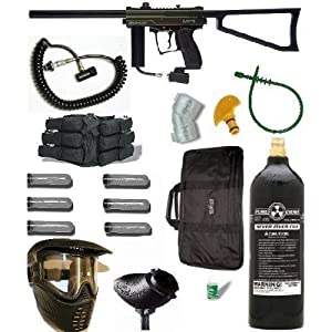 Paintball Kingman Spyder MR1 Gun Marker SNIPER PKG 08MR WITH REMOTE! Dark Green/Black