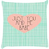 Snoogg Just You And Me Babe Cushion Cover Throw Pillows 16 X 16 Inch