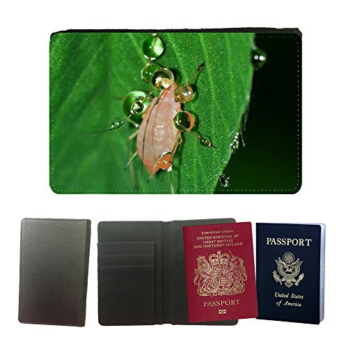 cool-design-pu-leather-travel-passport-wallet-case-cover-m00145125-insects-aphid-hemiptera-drops-wat