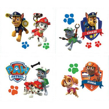 Paw Patrol Tattoos 16ct