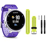 Garmin Forerunner 230 GPS Running Watch, Purple Strike - Force Yellow Watch Band Bundle
