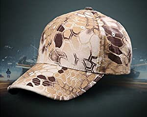 Noga Python Camouflage Hat Simplicity Outdoor Sun Hat Army Hat Woodland Camo Outdoor Tactical Cap for Fishing Hiking Hunting from Noga
