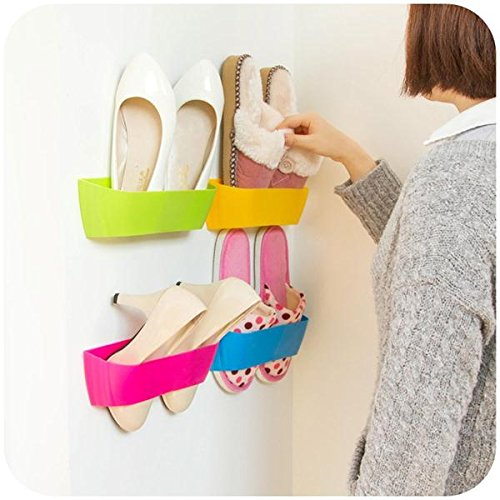 DIY-Paste-Dreidimensionale-Super-Glue-Hanging-Schuhregal-Regalwand-Bureau-Storage-Box